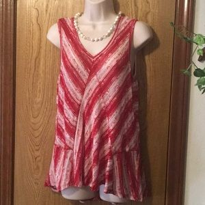 Vintage America Blues Red Striped Candy Tunic 🛍💐